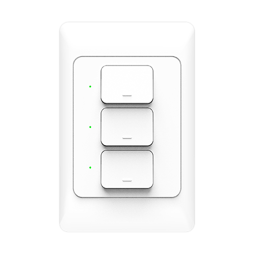Smart Wall Light Switch(3 switches)work with Alexa、Google Home KS-811-3