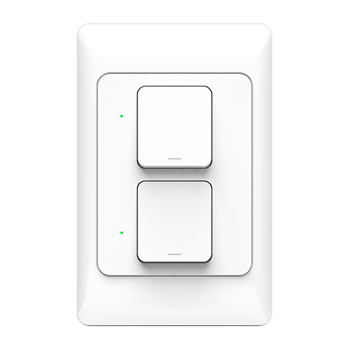 Smart Wall Light Switch(two switches)work with Alexa、Google Home KS-811-2