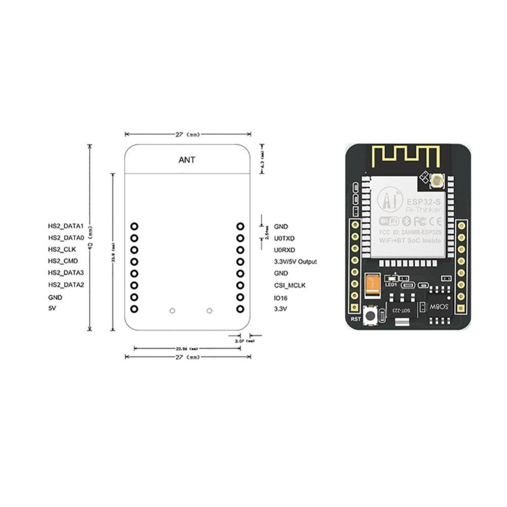 ESP32-CAM ESP-32S Wifi Module Cam Development Board 5V Bluetooth OV2640 Camera